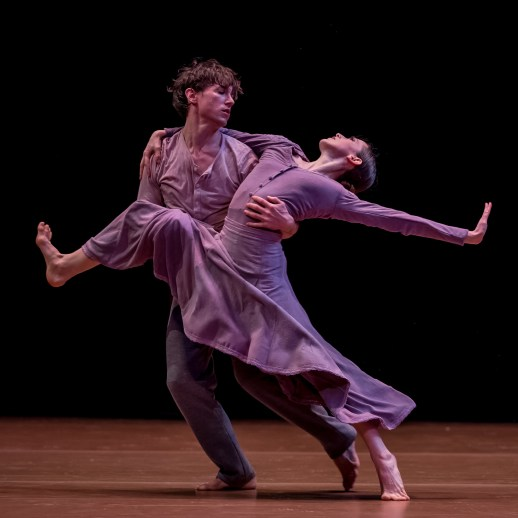 Emily Parker and Michael Linsmeier in Nacho Duato's Jardí Tancat, one of four ballets presented in Oregon Ballet Theatre's TERRA, running Apr. 13-22, 2017 at the Newmark Theatre. Photo by Yi Yin